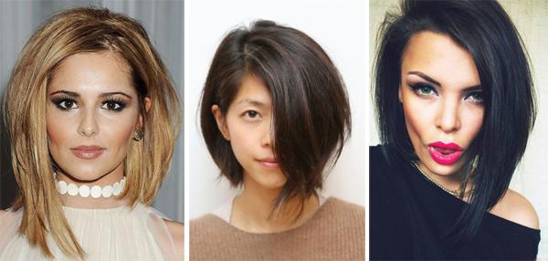 Ассиметричные стрижки на длинные волосы 2017