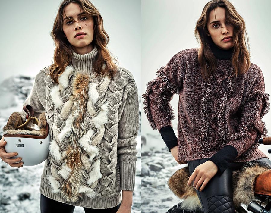Модные кофты 2017 женские зима