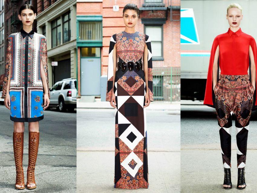 Узоры геометрические на одежде