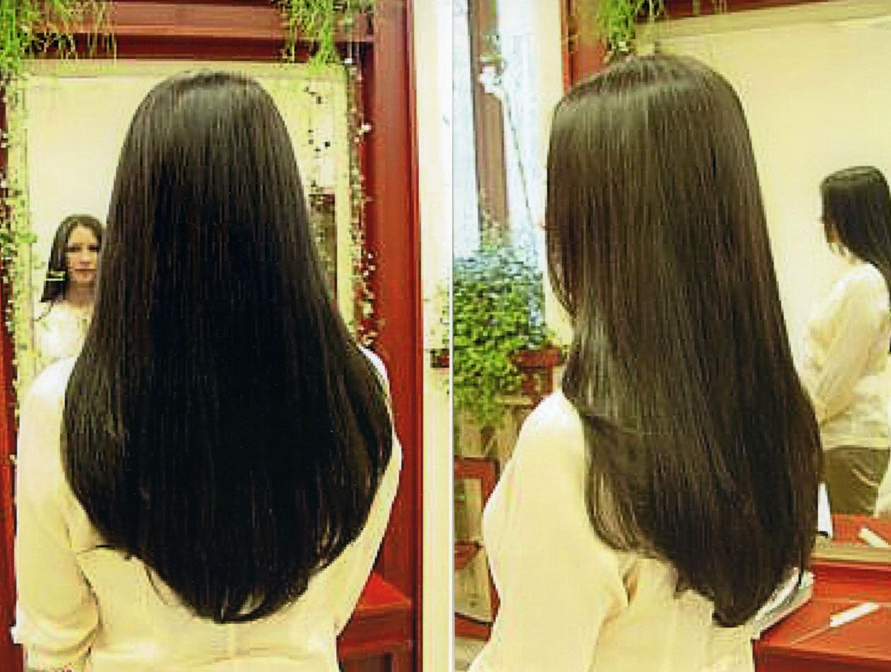 Стрижка длинных волос конусом