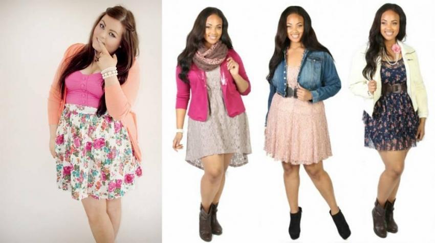 Стильные модные платья для полных