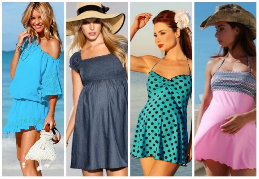 Как беременные одеваются на пляж