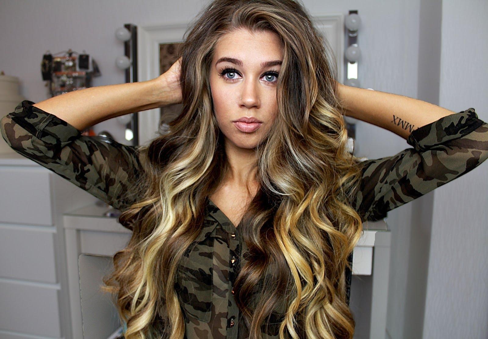 Как сделать волос крупные волны