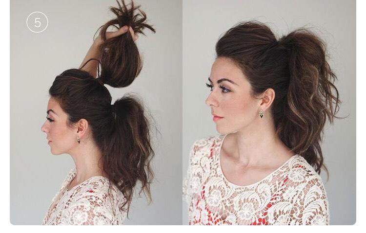 Повседневные прически пышных длинных волос
