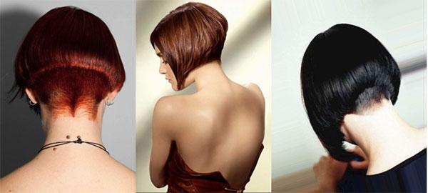 Фото короткие стрижки с зади и с боку