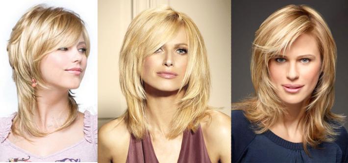 Модная прическа на среднею длину волос