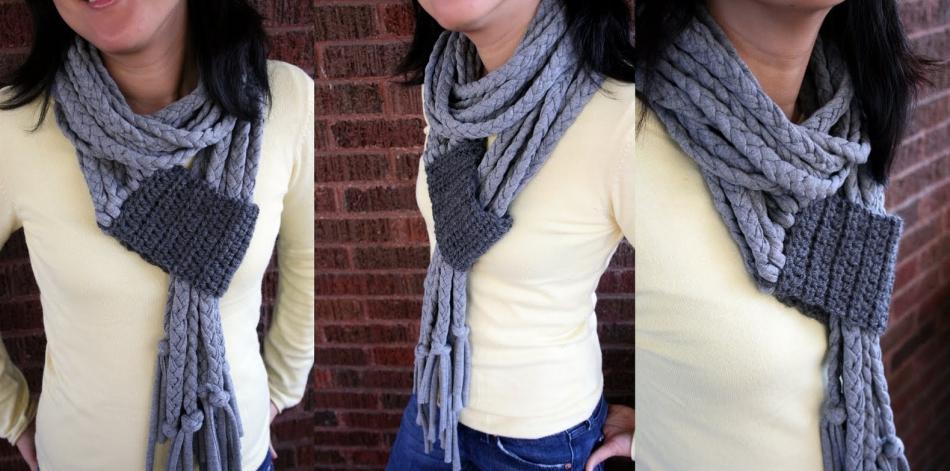 Дизайнерский шарф своими руками