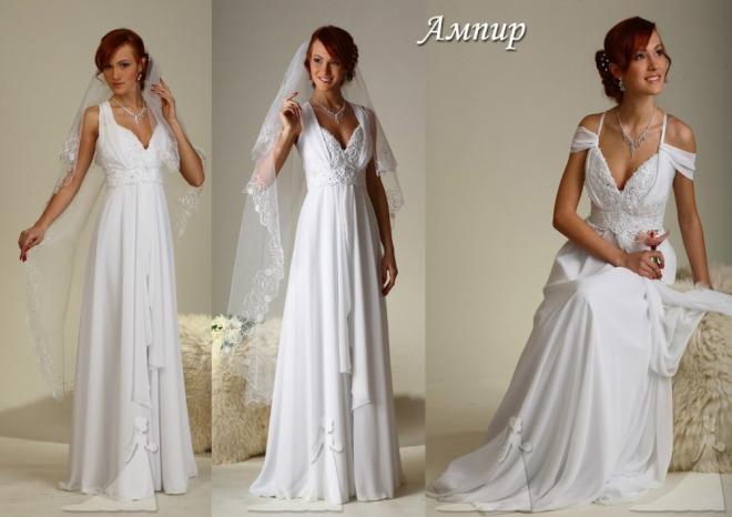 Свадебное платье для девушек невысокого роста - Ампир фото