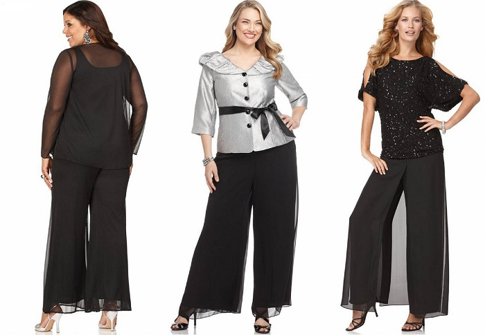 модные брюки для полных 2017