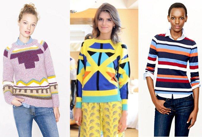 вязаный свитер гарсон
