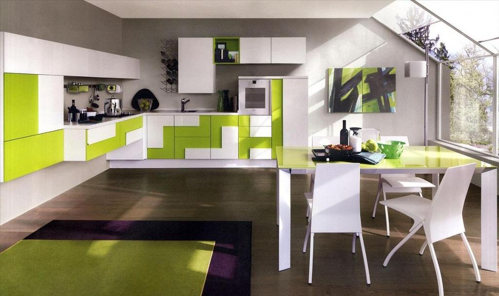 Кухня в зеленом