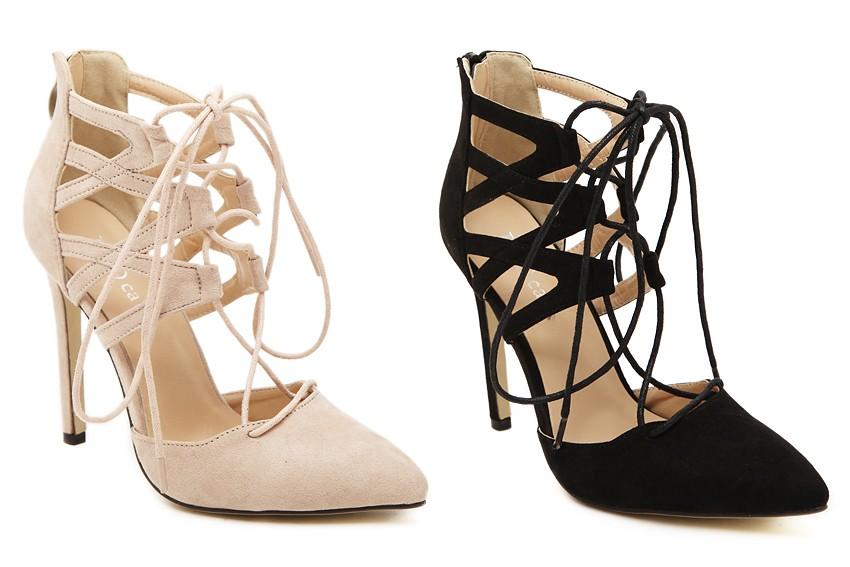 женские туфли на шнуровке