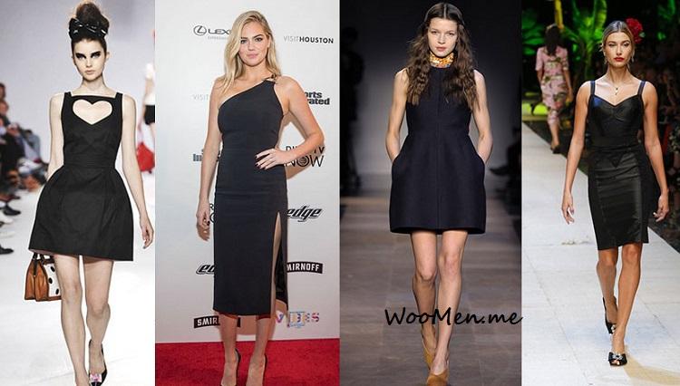 модное черное платье 2017