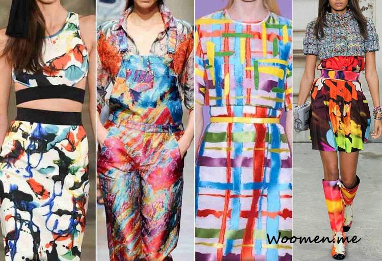 Модные абстракции весна-лето 2017