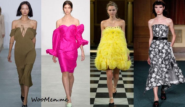 Платья весна-лето мода 2017