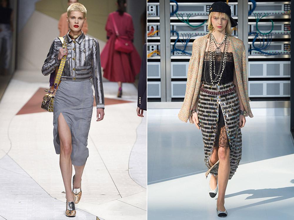 Модные асимметричные юбки 2017