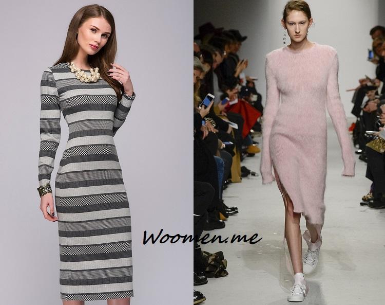 Модное платье зима 2017-2018