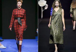 Модные платья осень-зима 2017-2018