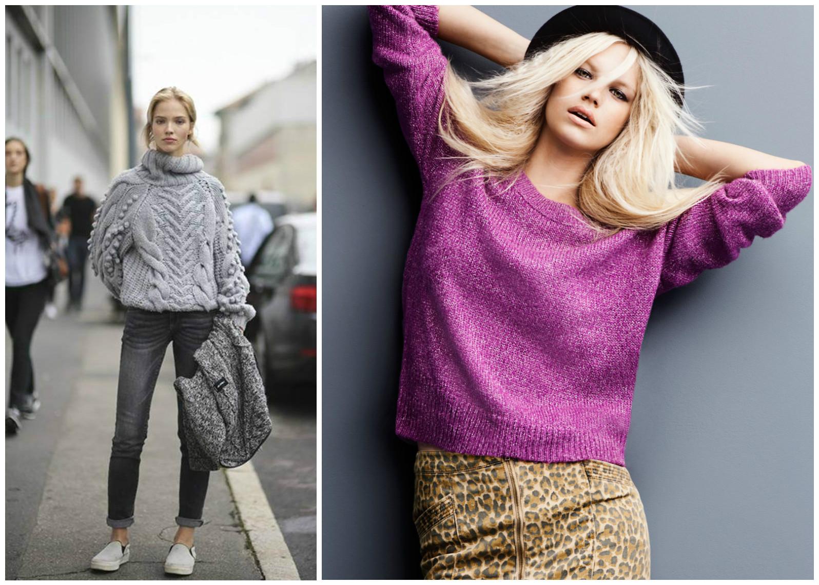 Модные теплые кофты весна 2018