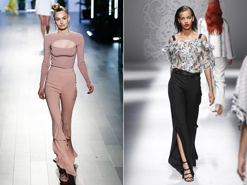 Модные брюки клеш весна-лето 2018