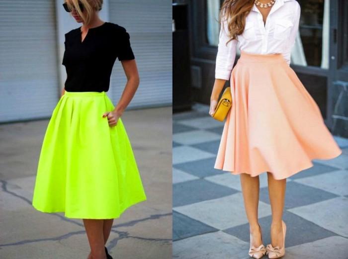 модные юбки весна-лето 2018 фото
