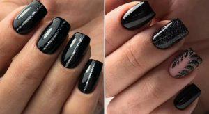 Модный черный маникюр 2019