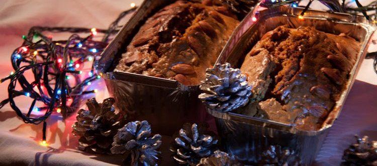 Рождественский кекс с коньячной пропиткой