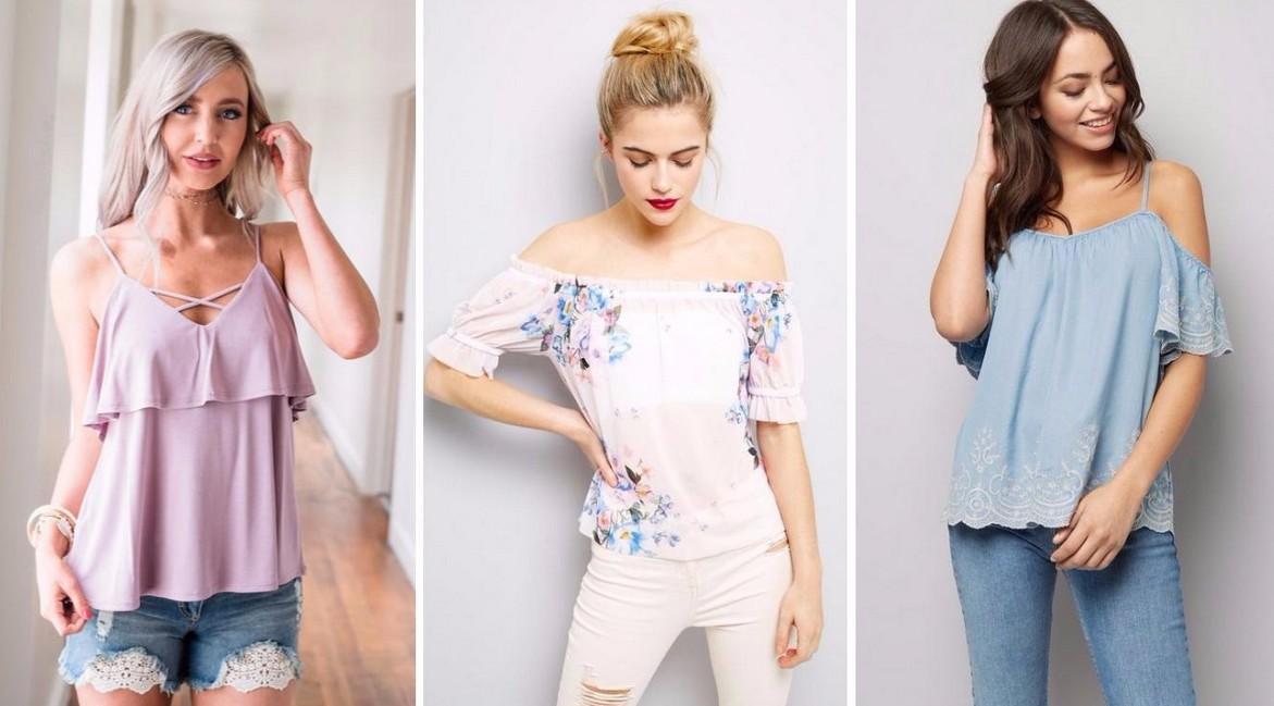 Модные женские футболки, майки, топы