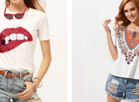 Модные женские футболки, топы, майки 2019