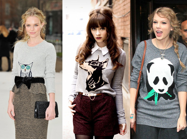 Модные принты на свитерах