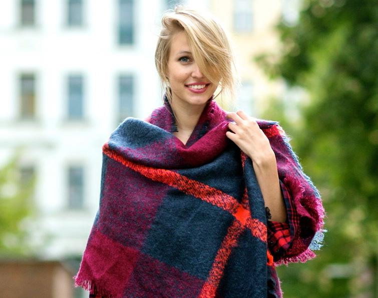 Модные шарфы осень-зима 2016-2017