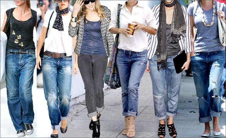 модные джинсы бананы