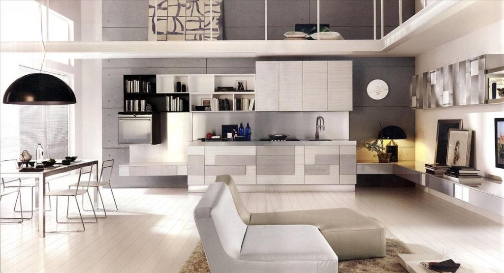 Кухня в белом