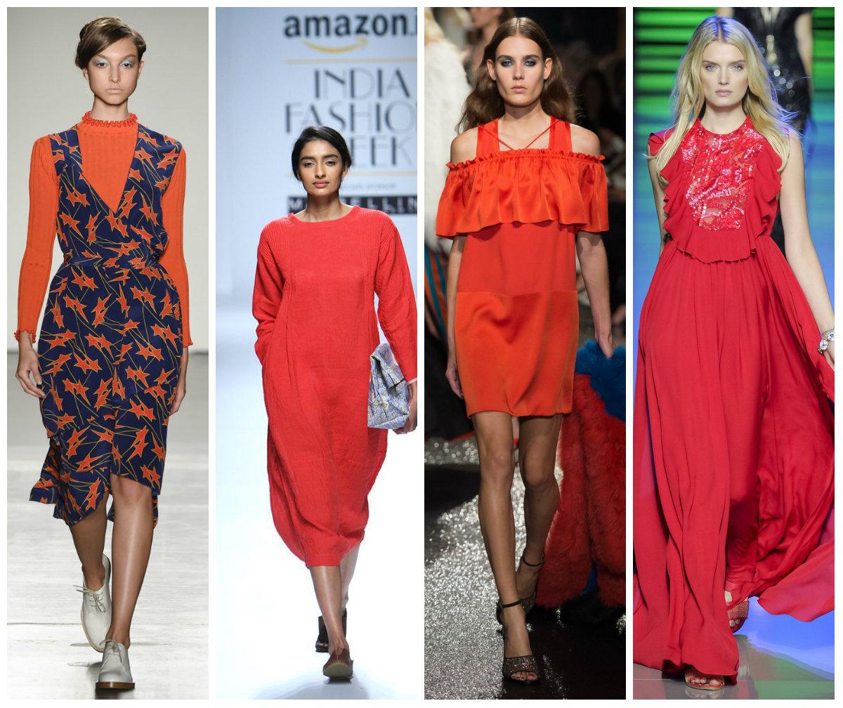 Красный в моде 2016