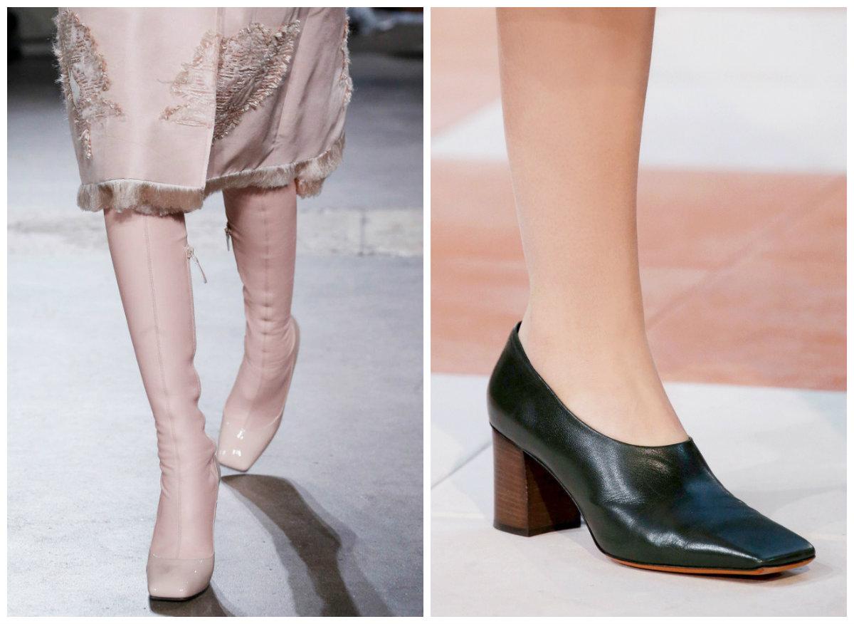 Квадратный носок в обуви 2016-2017