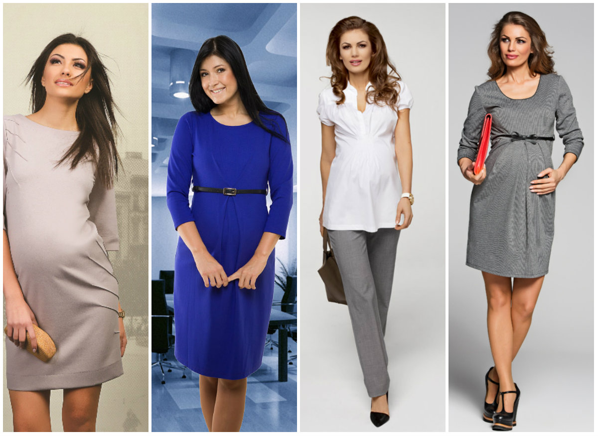 Модная офисная одежда для беременных