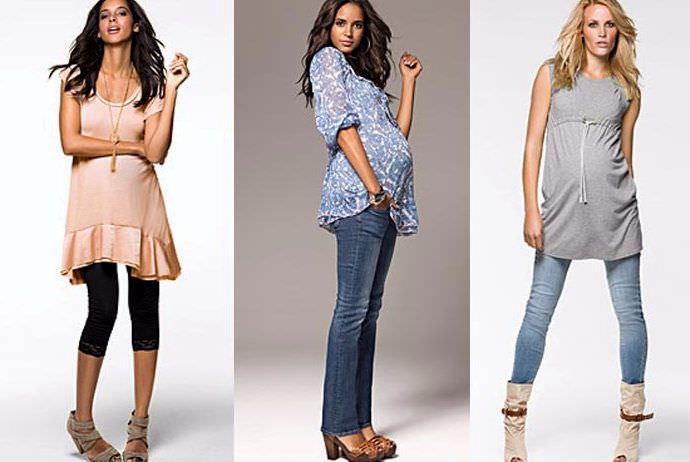 Модная уличная мода для беременных