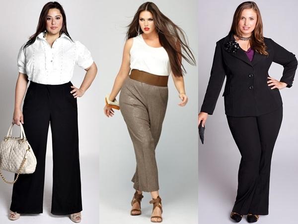 Модные брюки для полных женщин в 2016