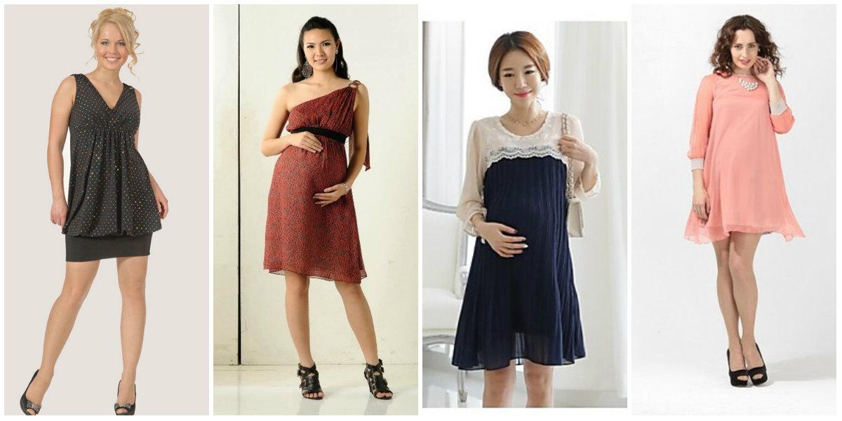 Модные коктейльные платья для беременных