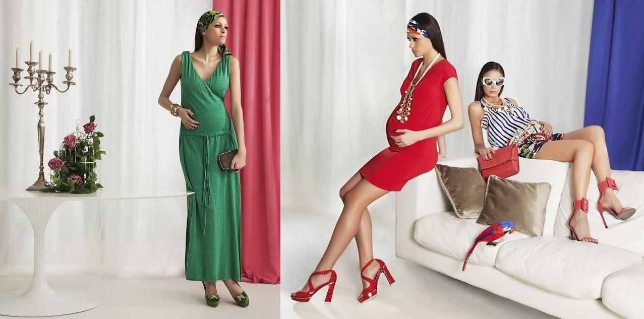 Модные трикотажные платья для беременных