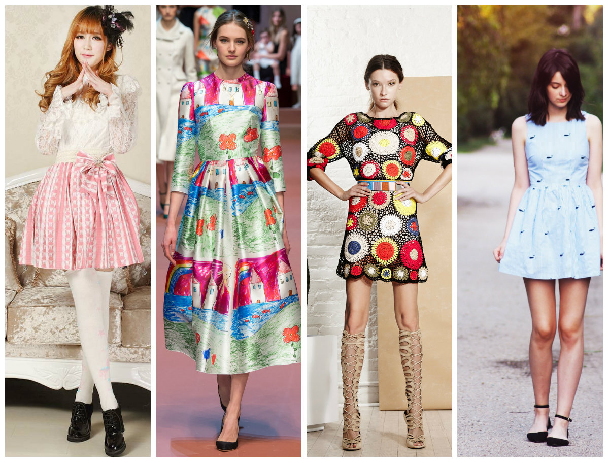 Наивность в моделях платьев в 2016 году