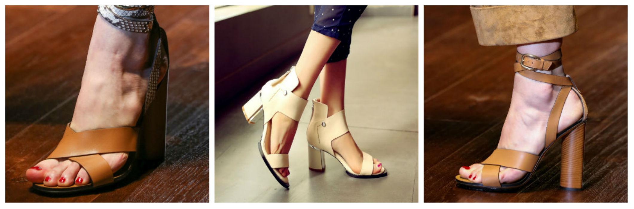 Широкие ремни на обуви 2016
