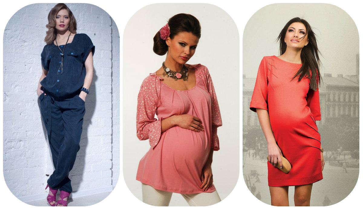 Цветовая палитра модной одежды для беременных