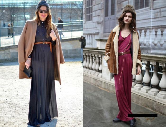 Платья и юбки в пол осень