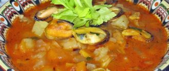 Суп из Мидий