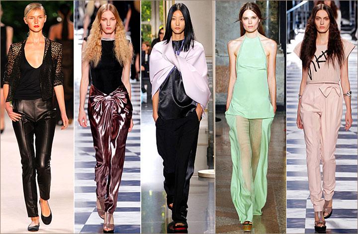 брюки с прозрачными вставками