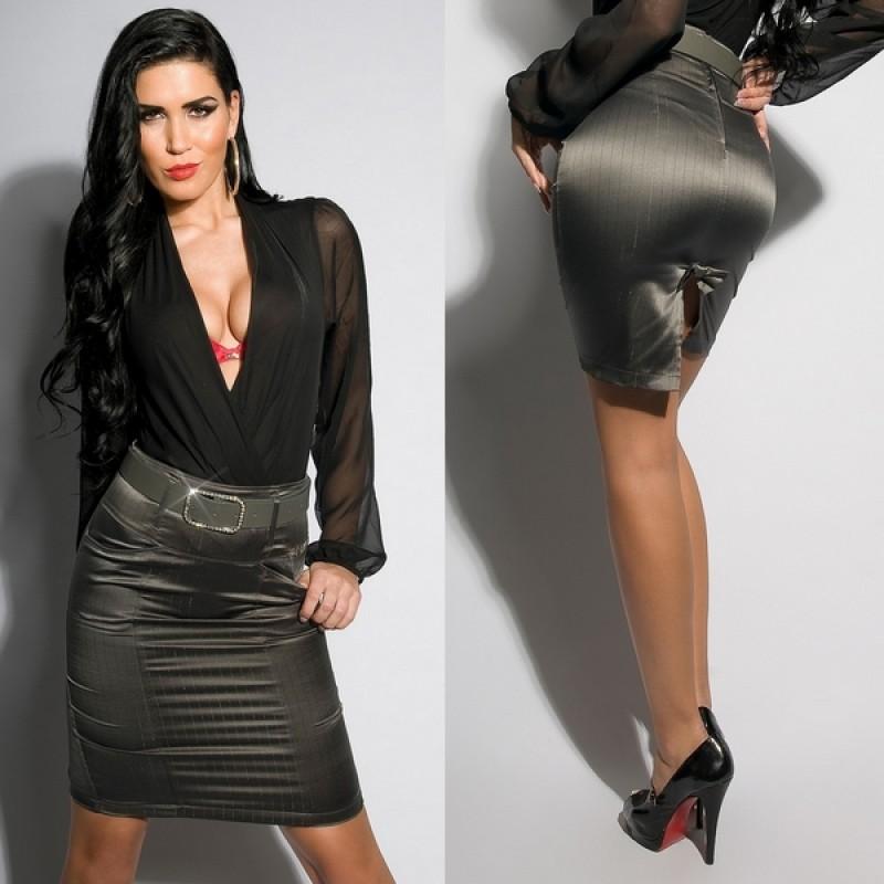 модная юбка с люрексом
