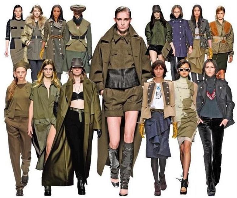 женская куртка в военном стиле