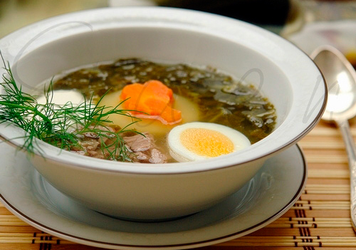Зеленый суп из крапивы