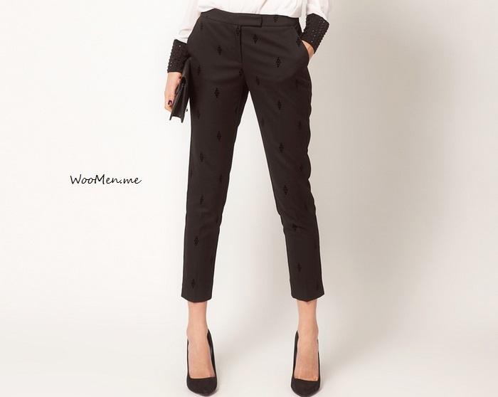 Модные укороченные брюки